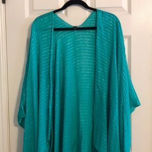 Lane Bryant Green and Silver Over Piece